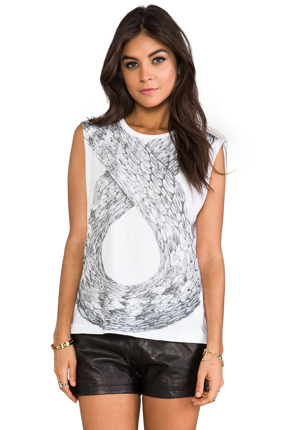 Ksubi Infinite Snake Muscle Tank in White