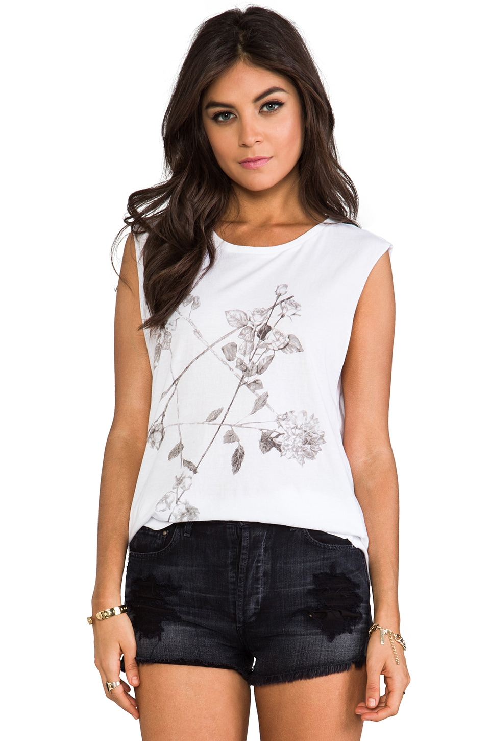 Ksubi Floral Star Tee in White