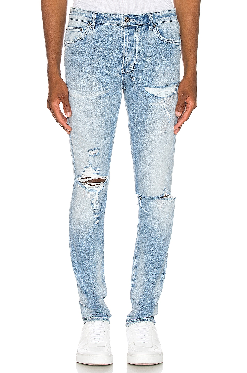Ksubi Chitch Punk Blue Thrashed Jean in Denim