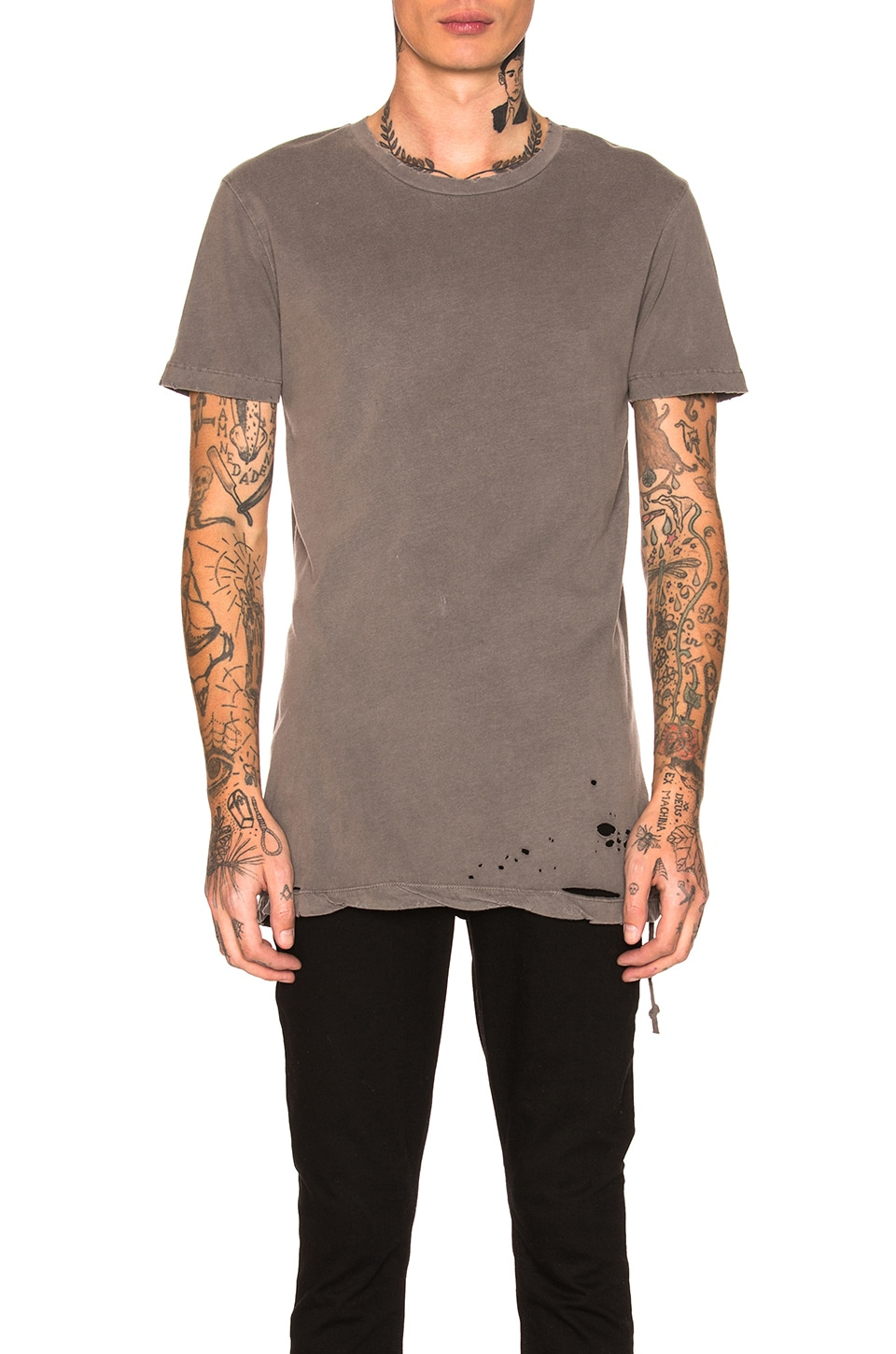 Ksubi Sioux Tee in Grey