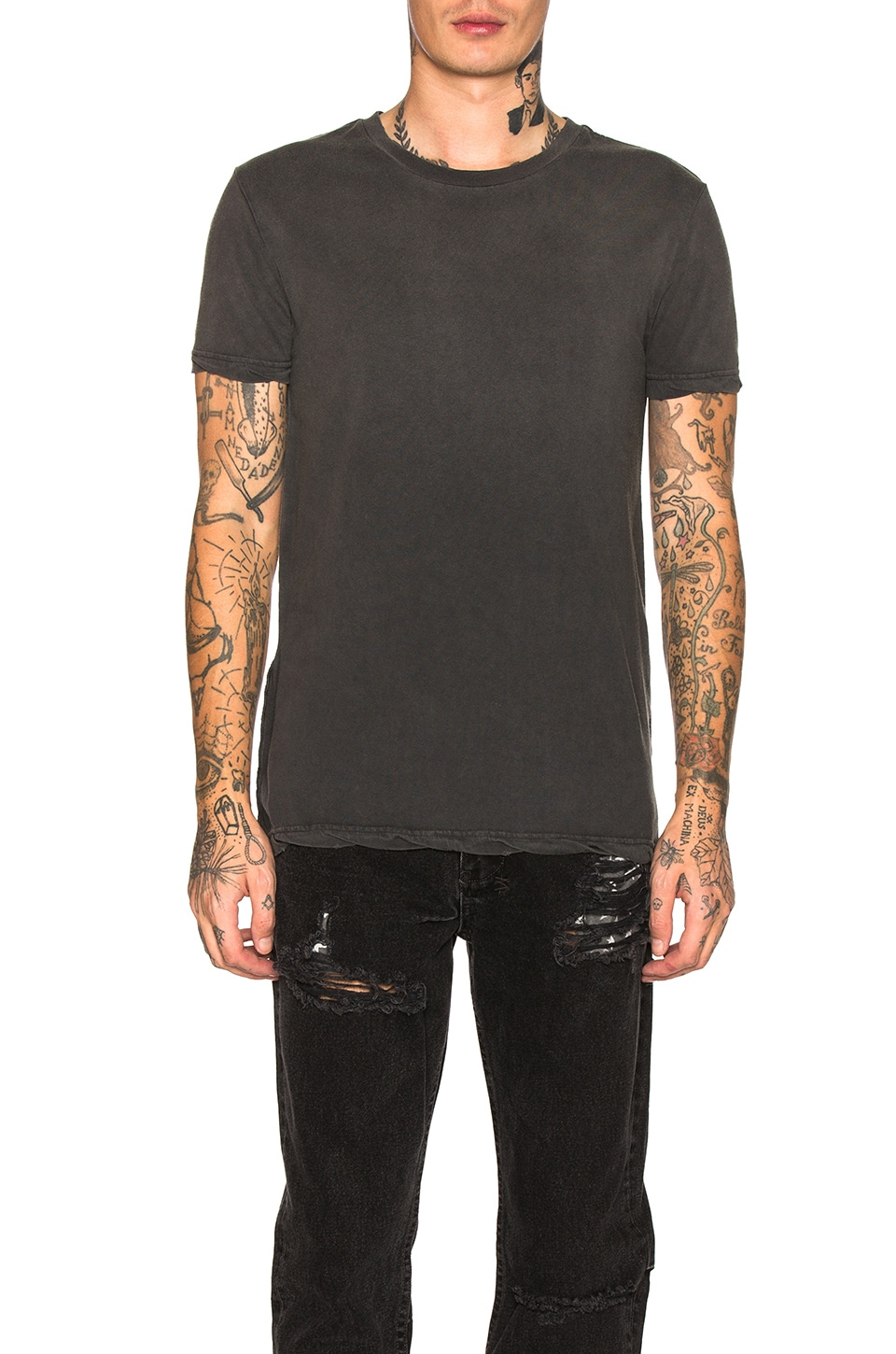 Ksubi Faded Tee in Back to Black