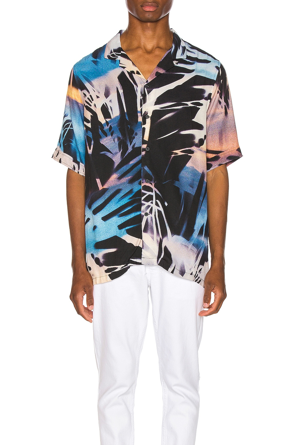 Ksubi Palms Resort Print Shirt in Multi