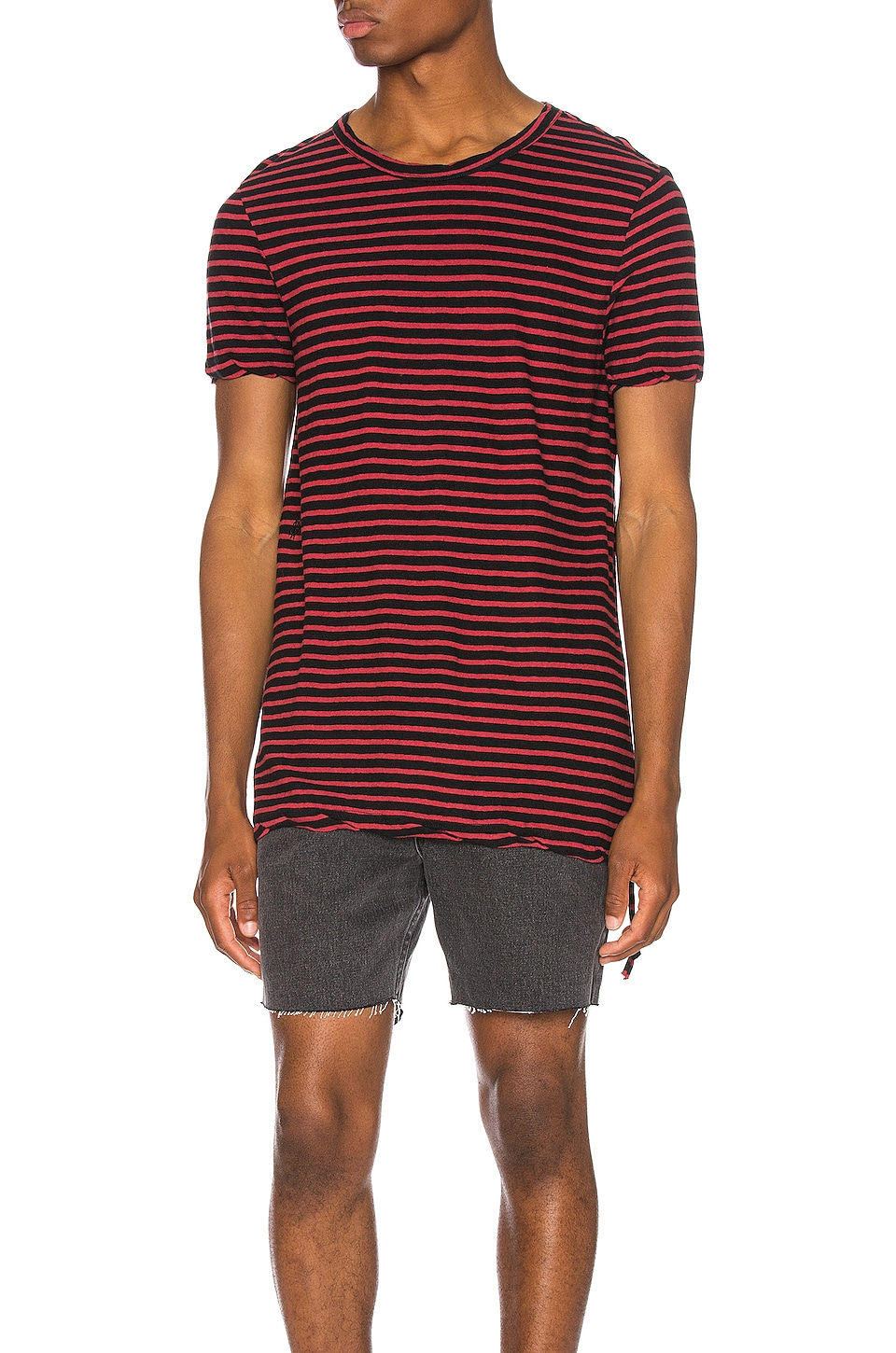 Ksubi Sinister Stripe Tee in Red