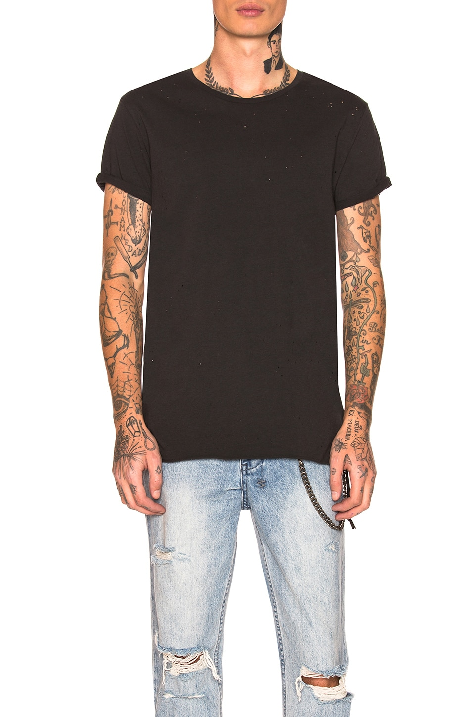 Ksubi Kodeine Black to Black Tee in Black