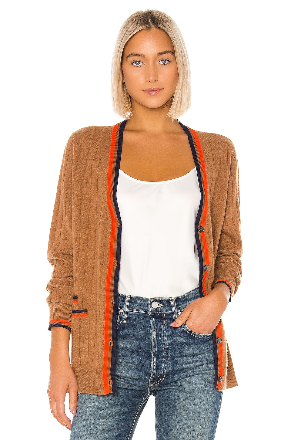 Kule The Leon Cardigan in Camel