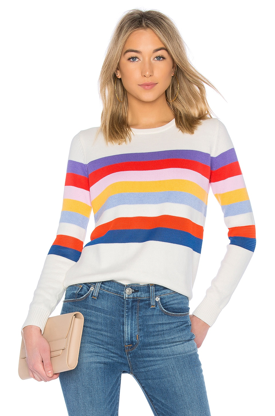 Kule The Day Trip Sweater in Cream Multi