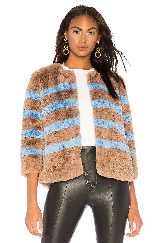 Kule The Bailey Jacket in Camel & Light Blue