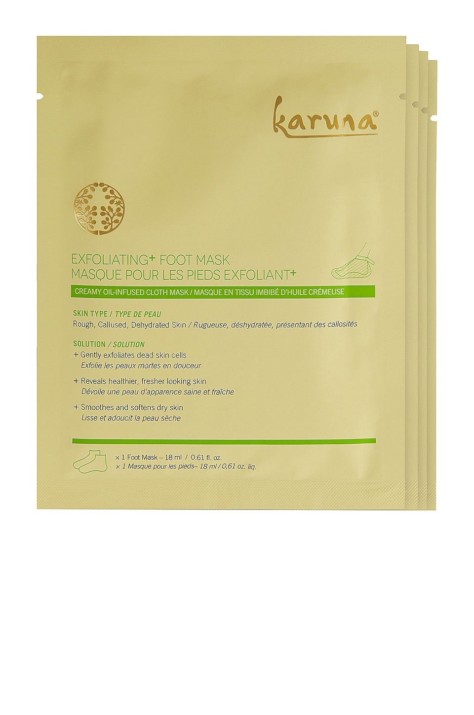 Karuna Exfoliating+ Foot Mask 4 Pack