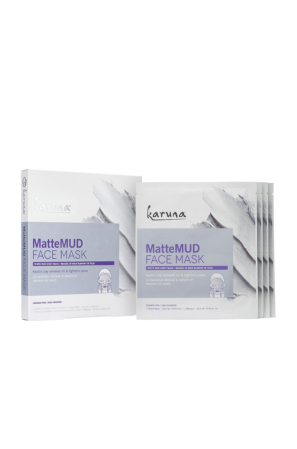 Karuna MatteMUD Face Mask 4 Pack