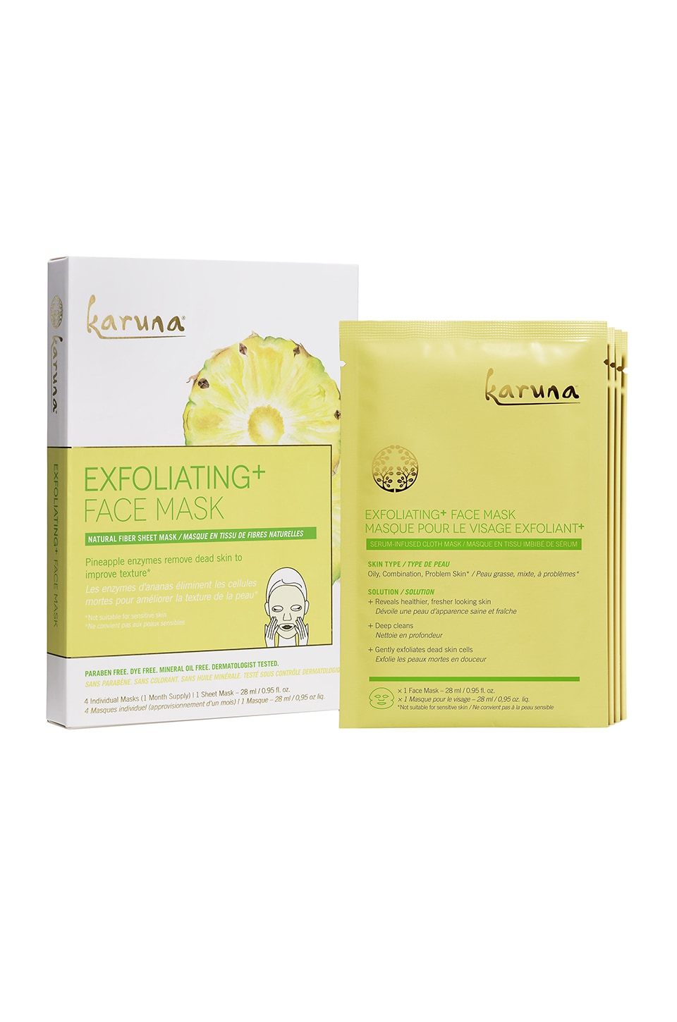 Karuna Exfoliating+ Mask 4 Pack