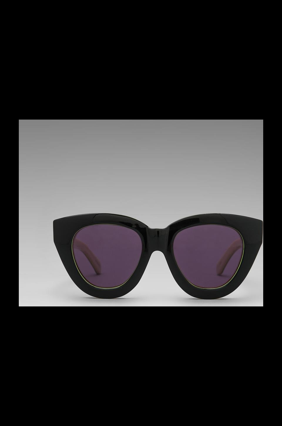 Karen Walker Anytime in Black/Fluro Yellow/Cream