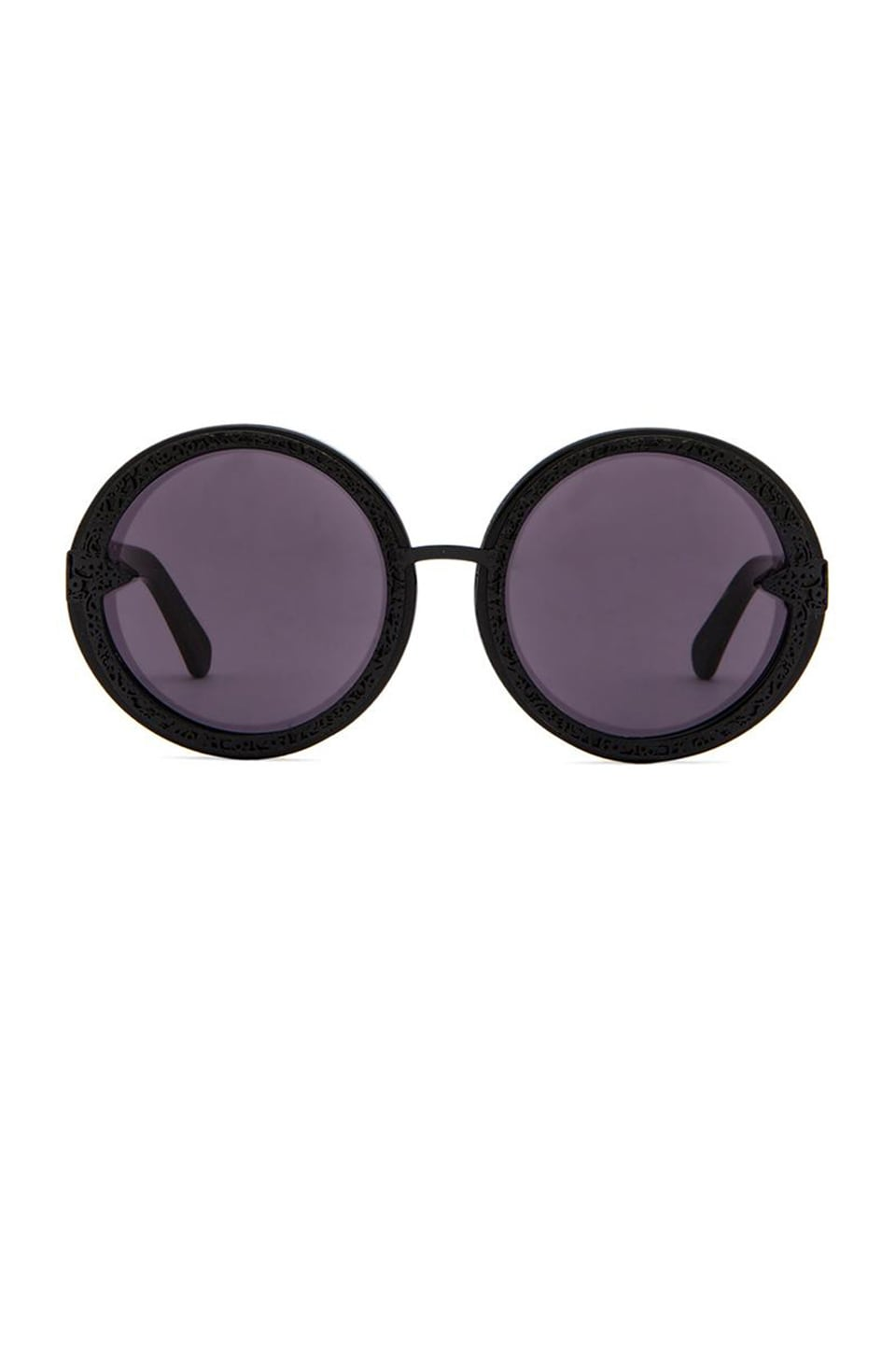 Karen Walker Orbit Filigree in Black and Shiny Black