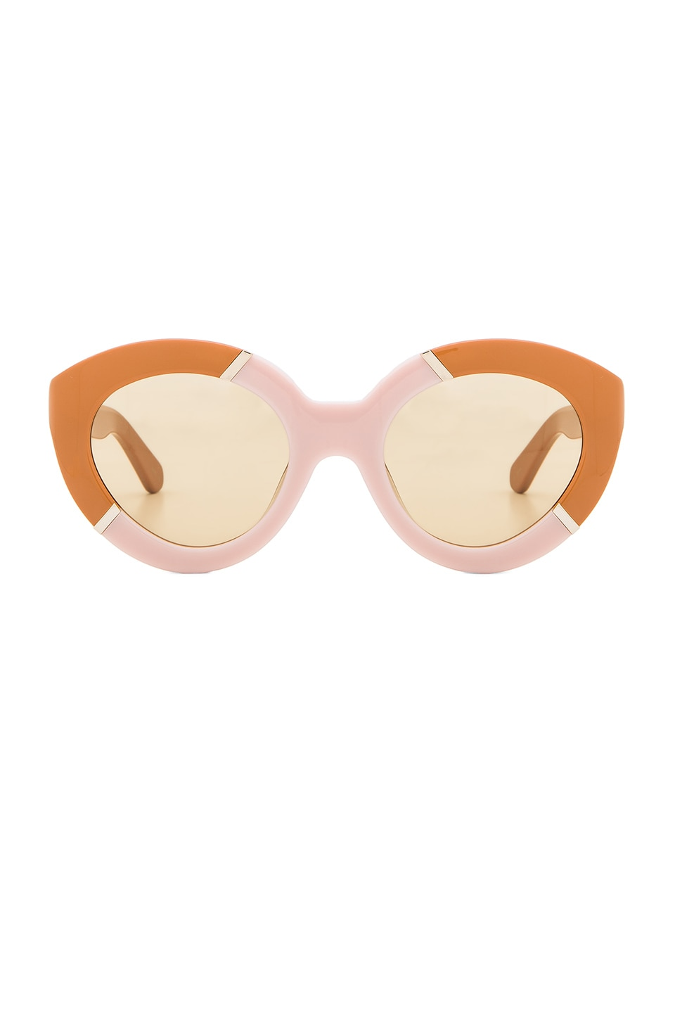 Karen Walker Flowerpatch in Tan & Dusty Pink & Gold