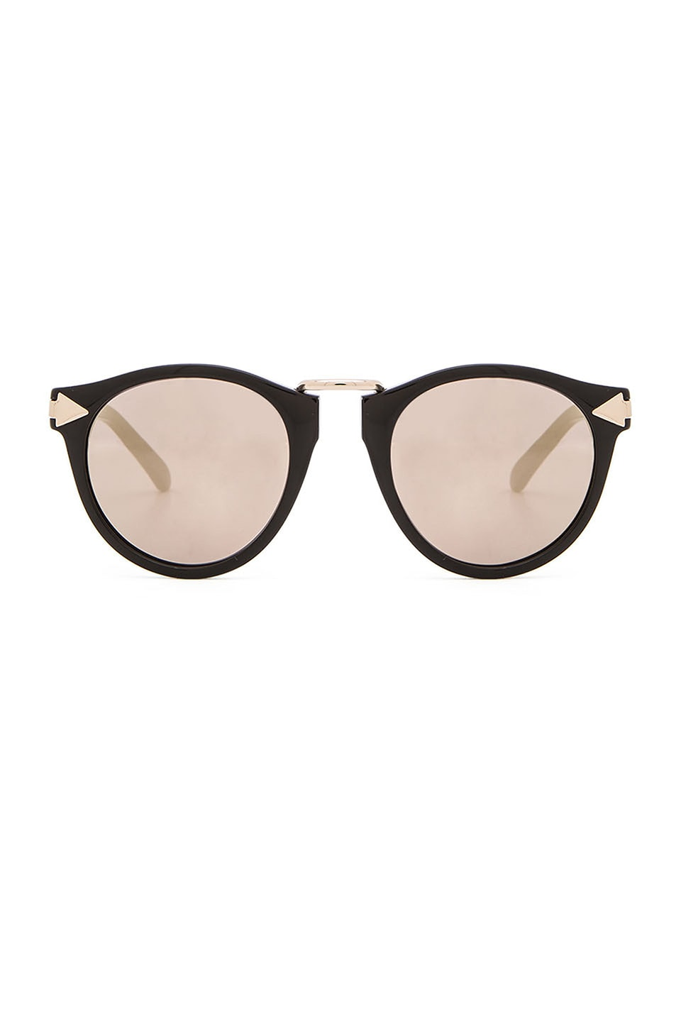 Karen Walker Superstars Helter Skelter in Black & Gold Mirror