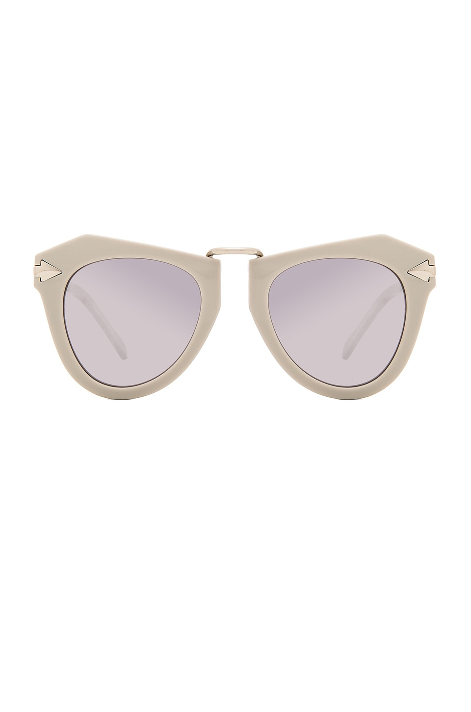 Karen Walker One Orbit in Soft Grey & Shiny Silver