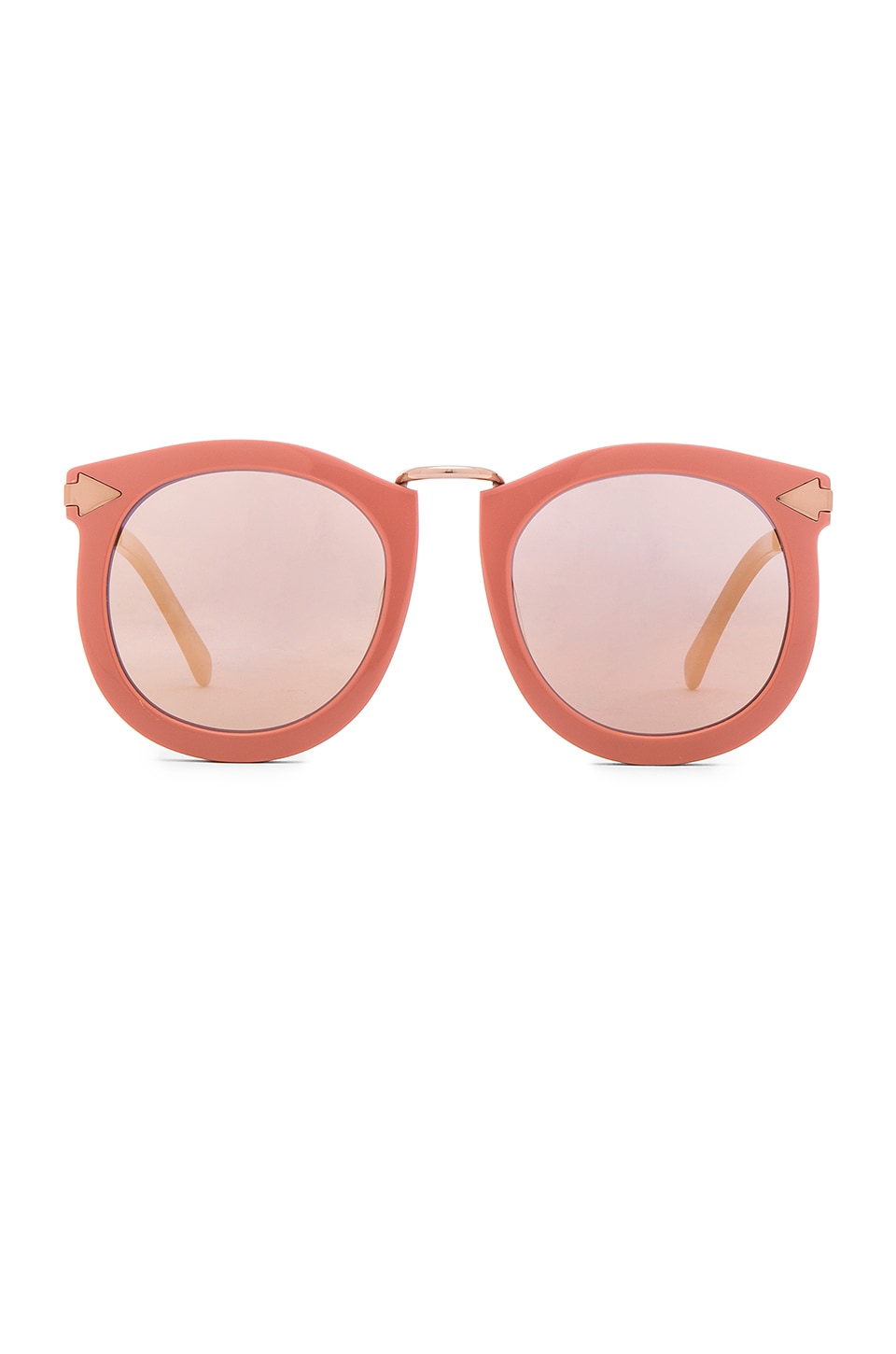 Karen Walker Super Lunar in Rose Pink & Shiny Gold