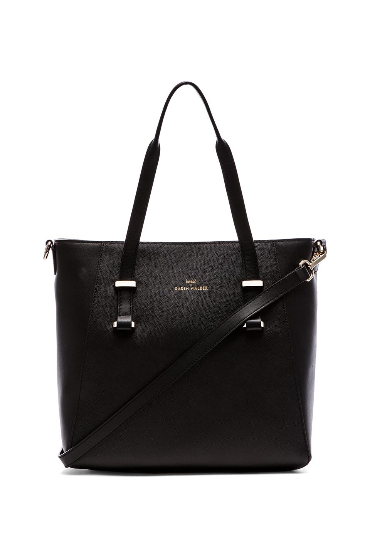 Karen Walker Veronica Shopper in Black & Ivory