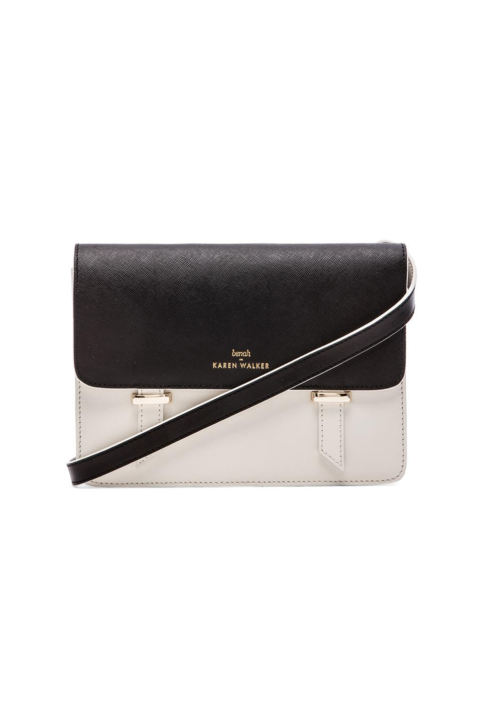 Karen Walker Sloane Satchel in Black & Ivory