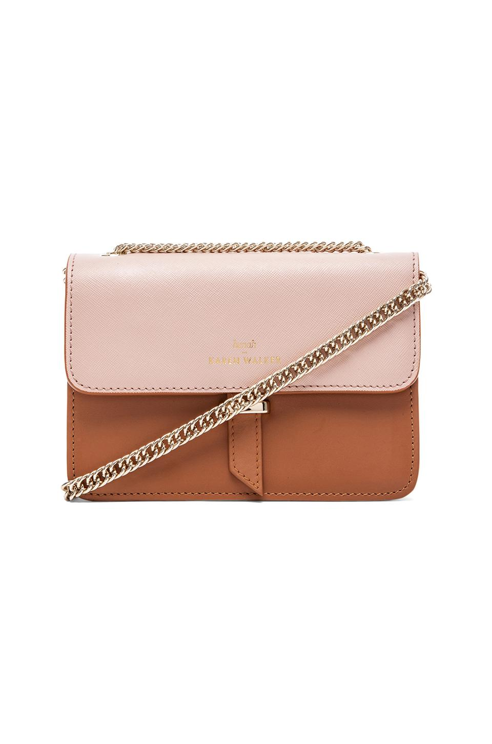 Karen Walker Juliet Mini Chain Bag in Tan & Blush