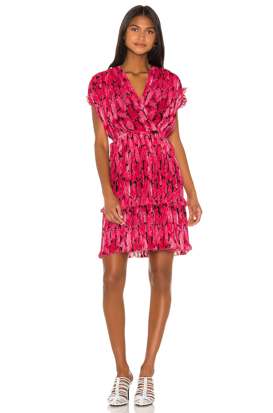 Kenzo Peonie Dress in Deep Fuchsia