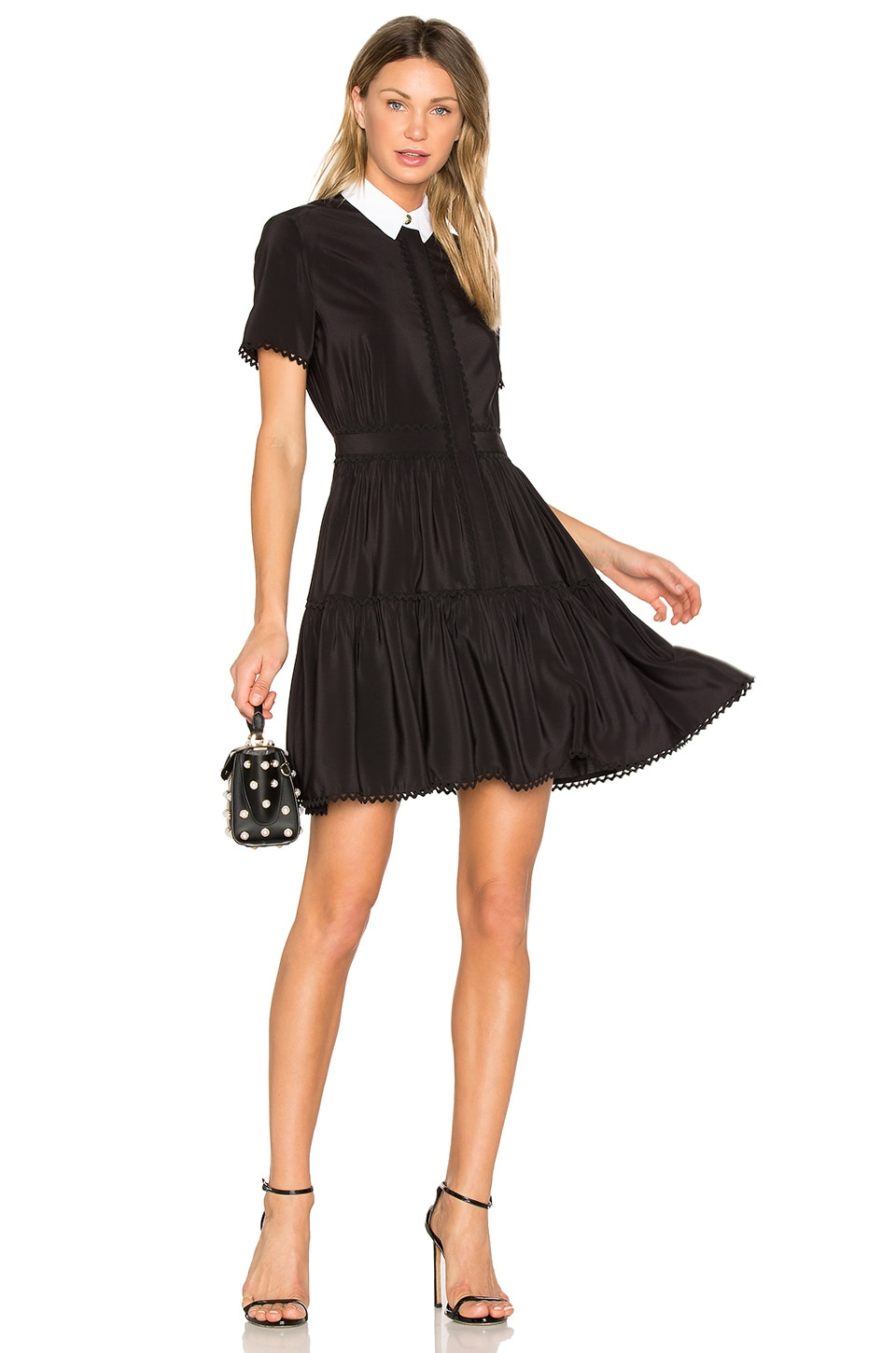 Kenzo Silk Mini Dress in Black