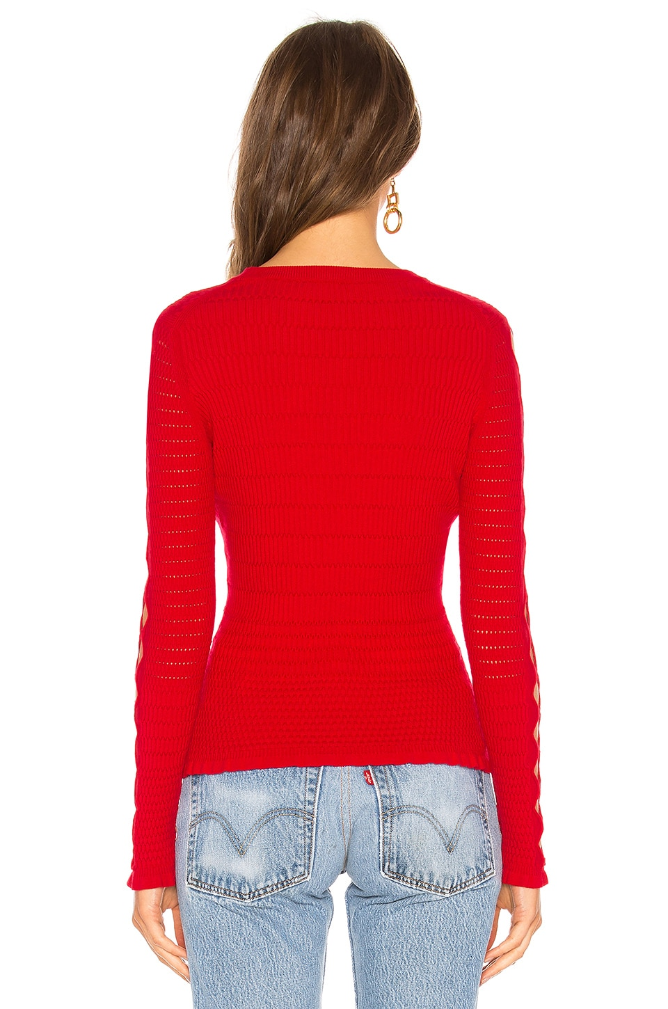 KENZO Knitwears Fitted Lacehole Sweater