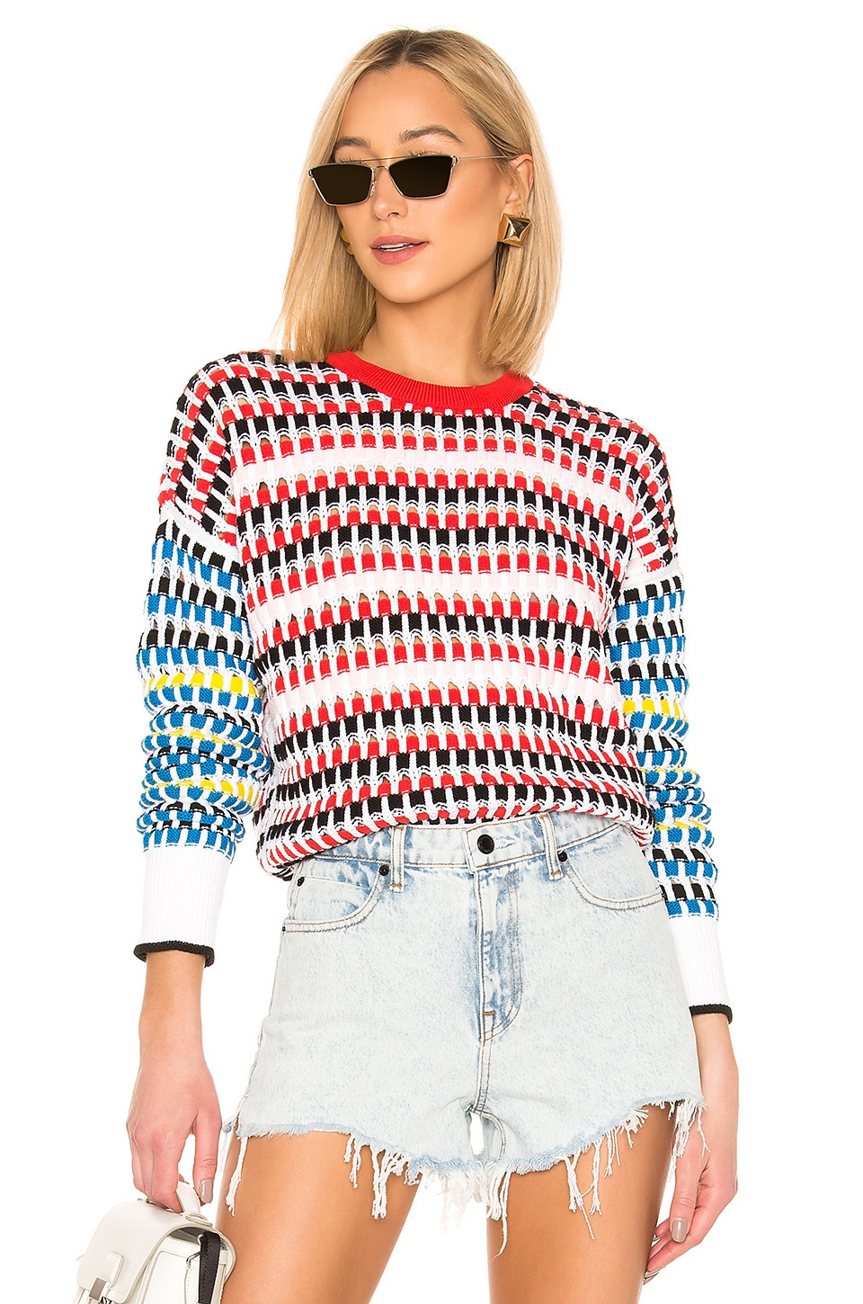 Kenzo Lacehole Jumper in Multi Color