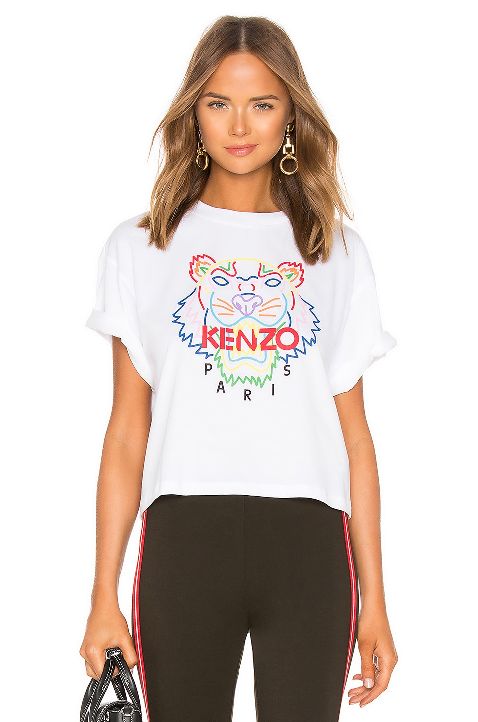Kenzo Tiger T Shirt in White