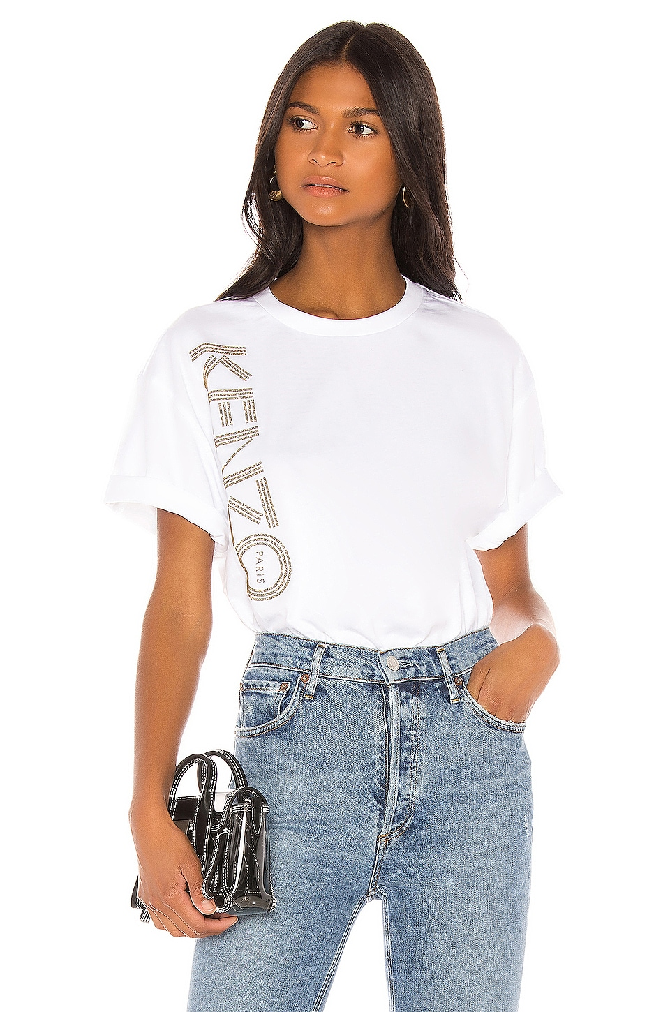 Kenzo Sport Single Jersey Tee in White