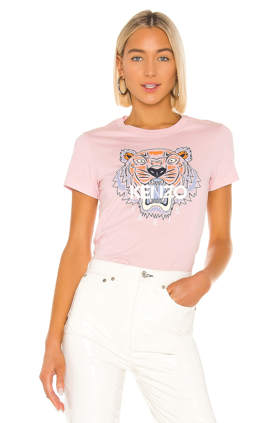 Kenzo Classic Tiger T Shirt in Faded Pink