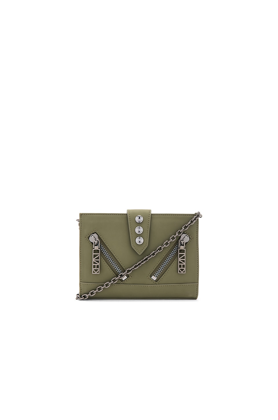 Kenzo Kalifornia Wallet On Chain in Military Green