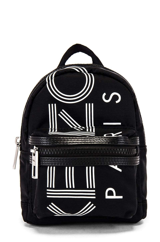 Kenzo Sport Logo Print Mini Backpack in Black