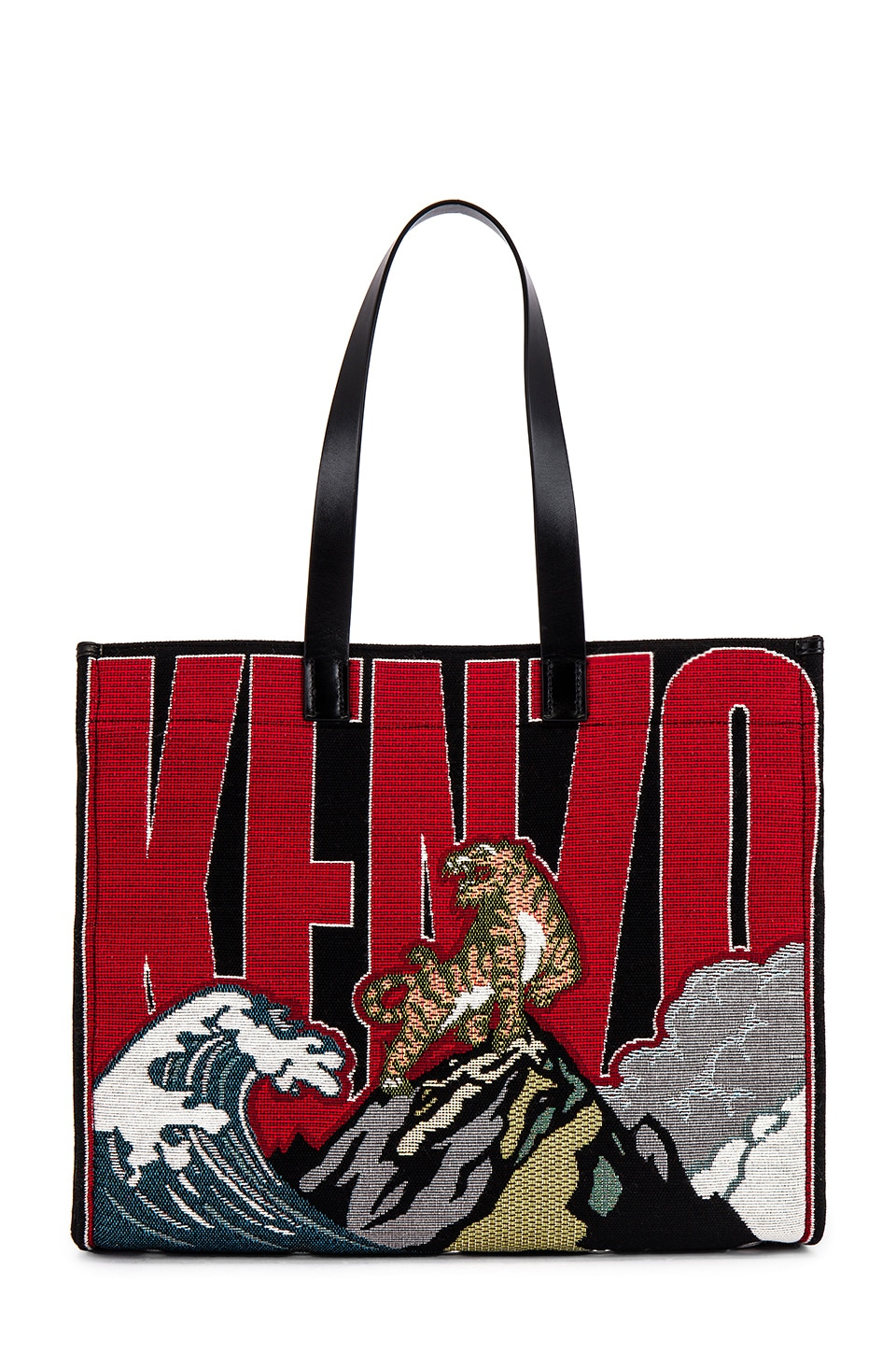 Kenzo Placed Tiger Jacquard Tote in Multicolor