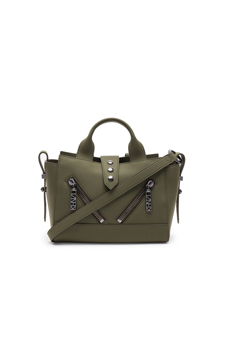 Kenzo Kalifornia Mini Tote Bag in Military Green