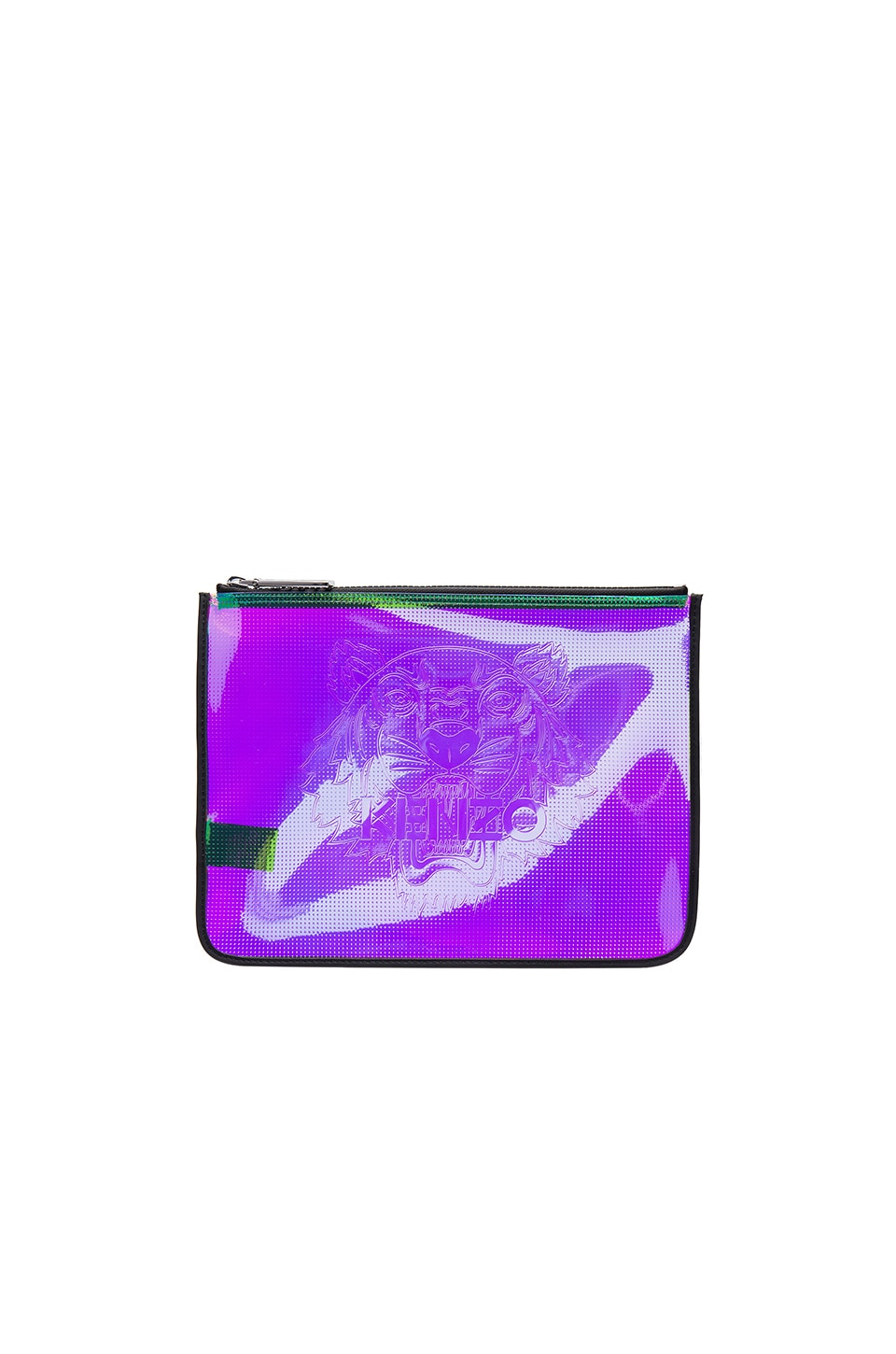 Kenzo Iridescent PVC Clutch in Multi