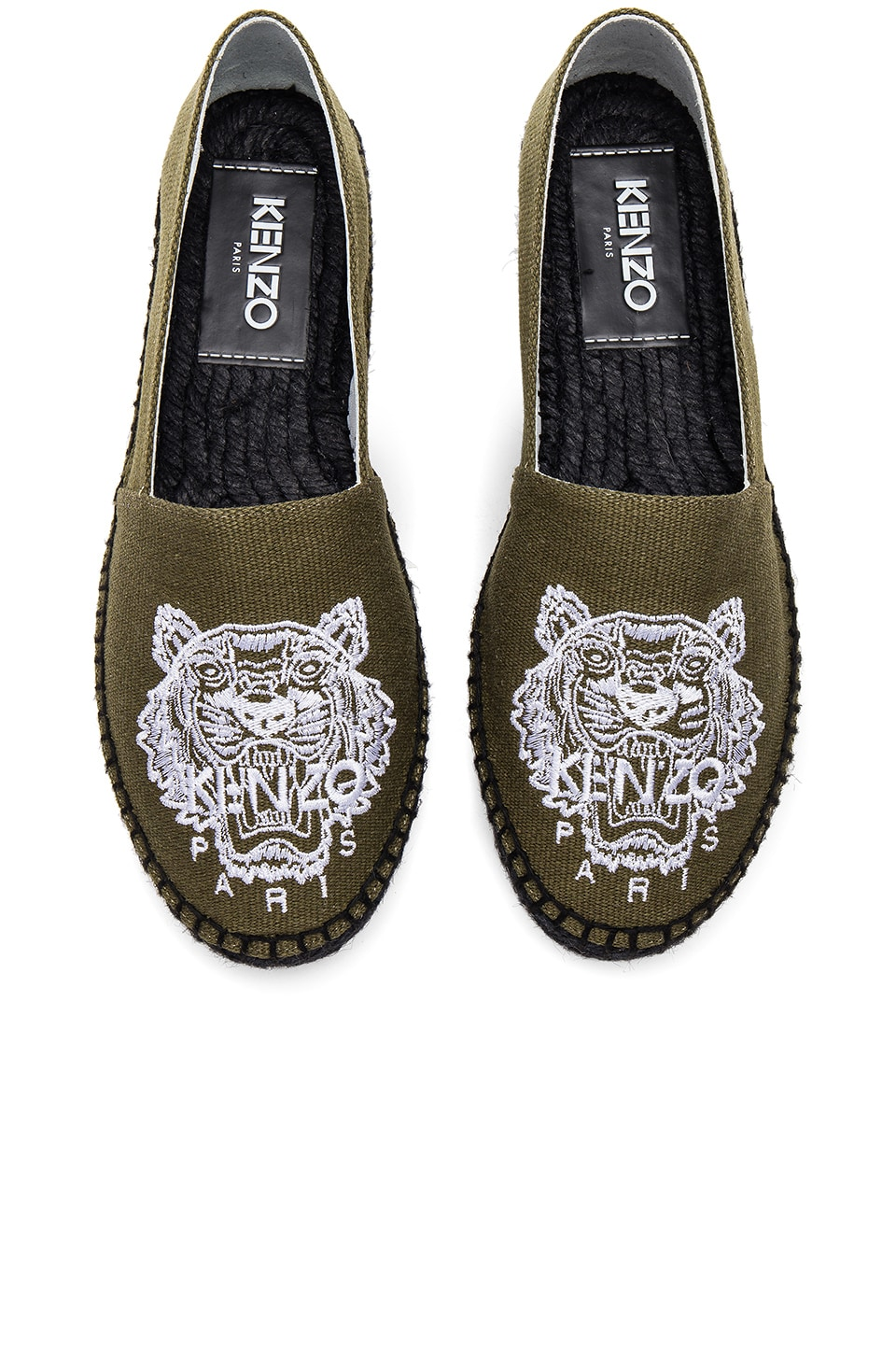 Kenzo Tiger Espadrilles in Military Green
