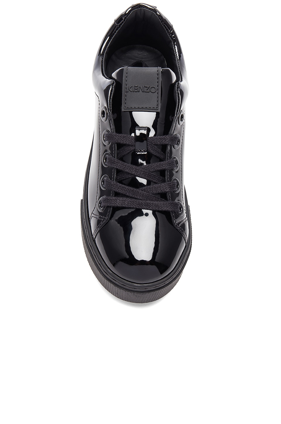 KENZO K-Lace Platform Sneakers In Black.