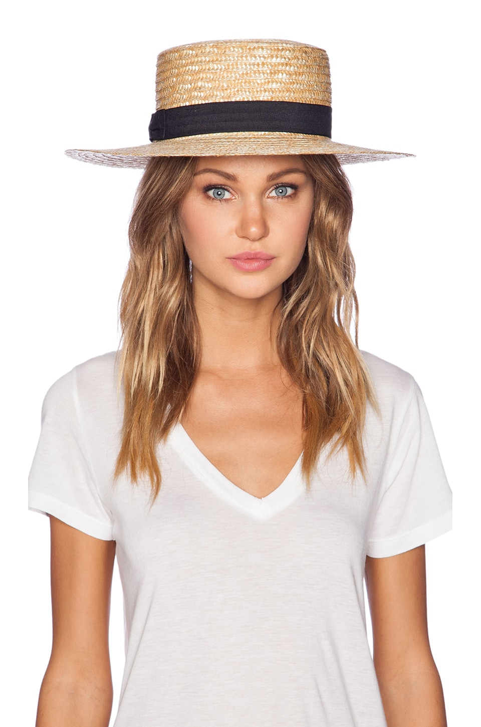 Lack of Color The Spencer Boater Hat in Natural Straw