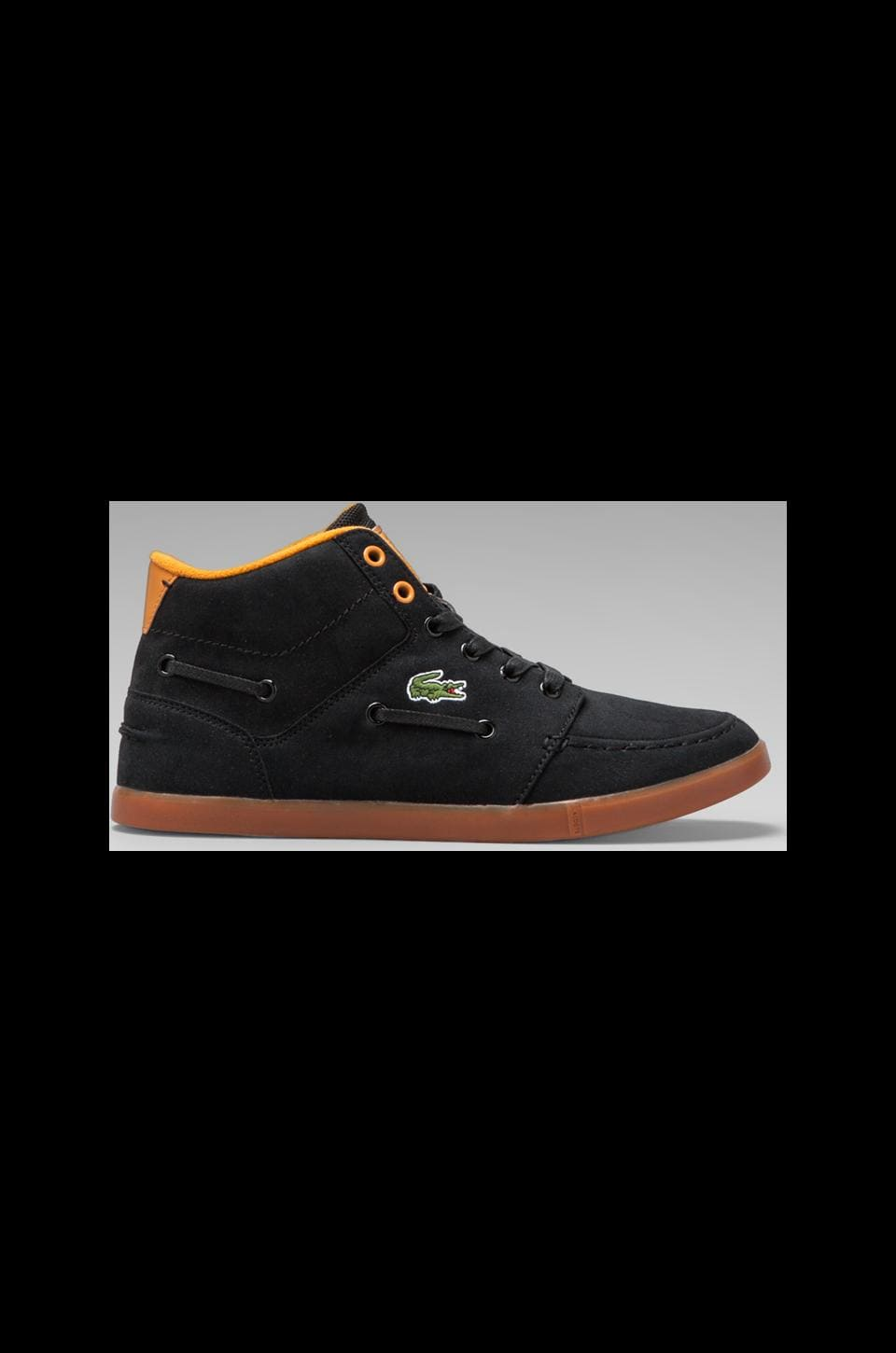 Lacoste Live Crosier Sail Mid in Black/Orange