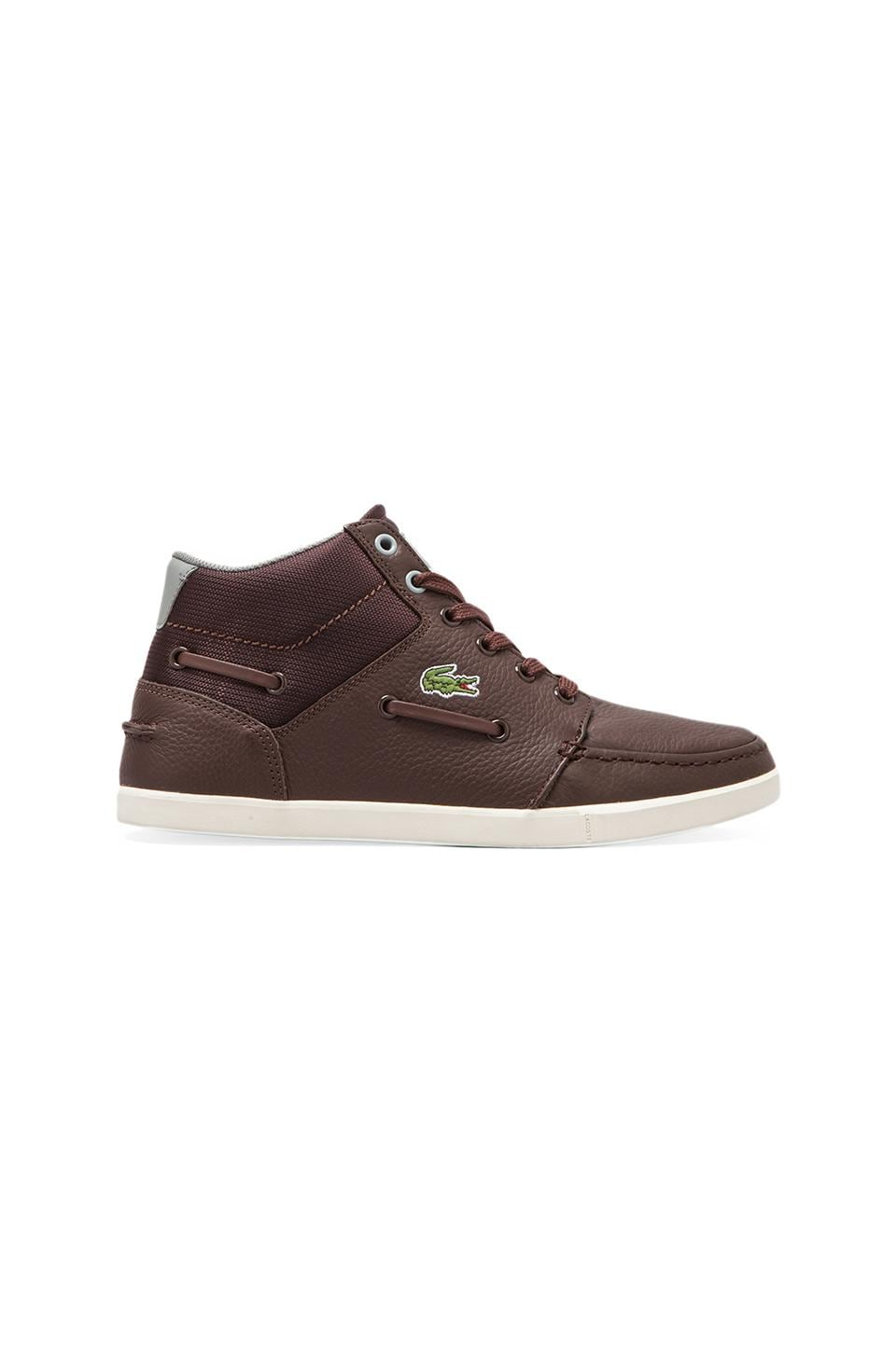 Lacoste LIVE Crosier Sail Mid in Dark Brown/Dark Grey