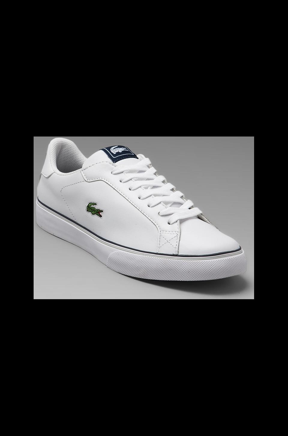 Lacoste Marling Low in White/Dark Blue