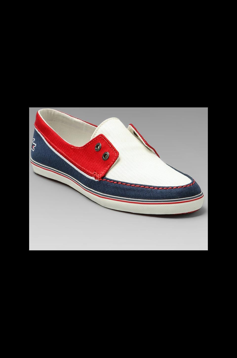 Lacoste Lanas AP in White/Navy/Red