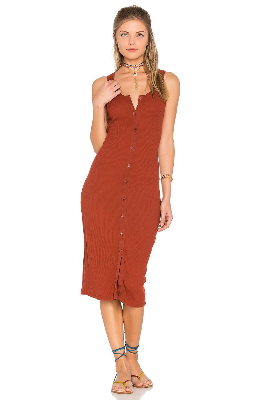 Button Rib Dress by LACAUSA