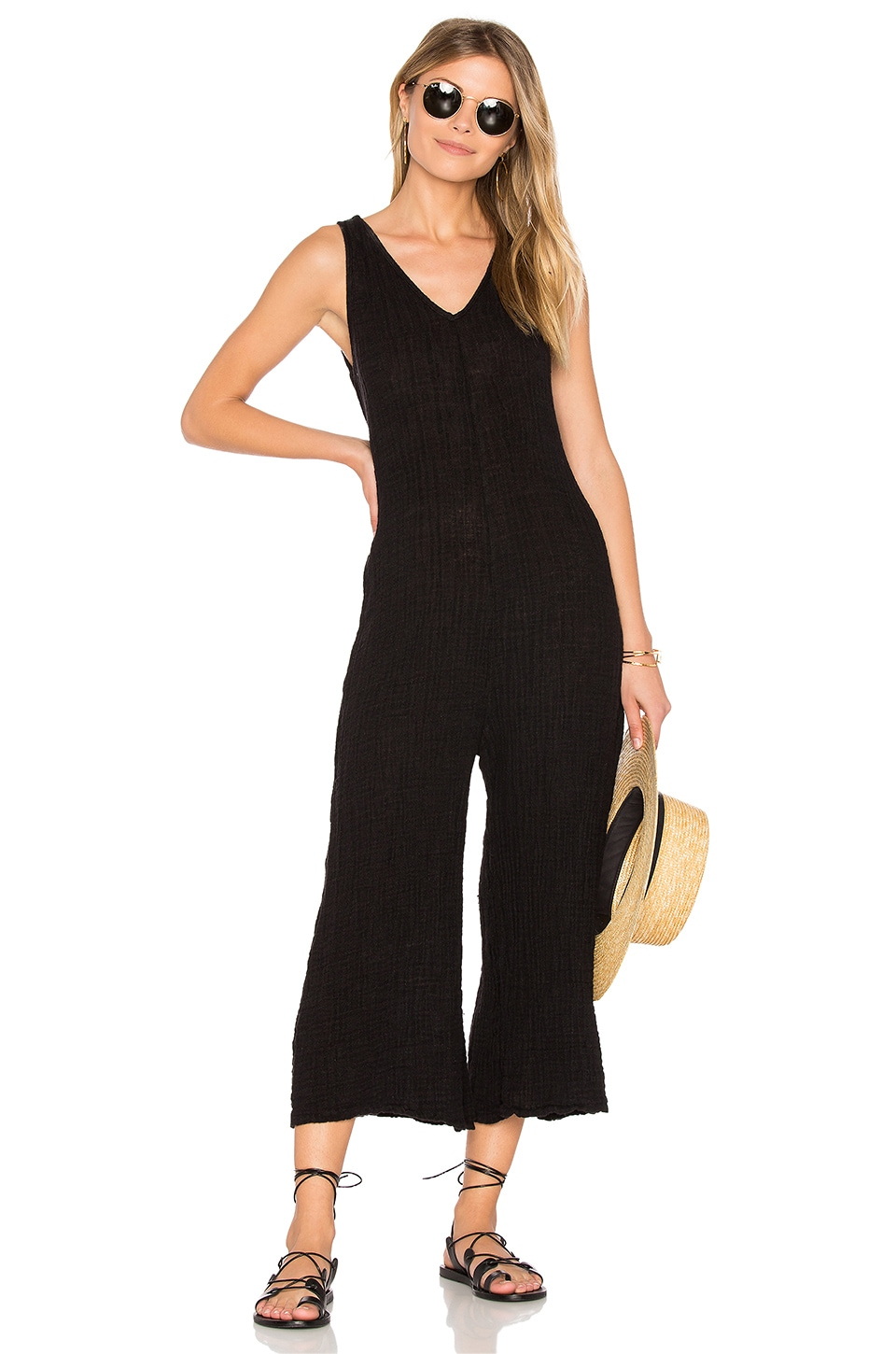 LACAUSA Rainbow Jumpsuit in Tar