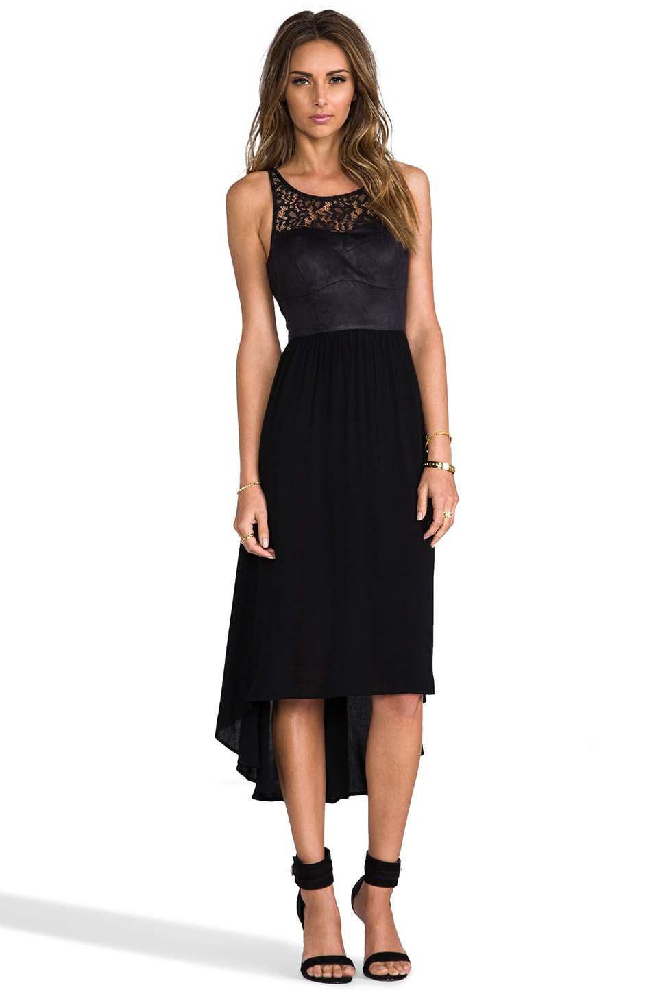 Ladakh Midnight Crush Dress in Black