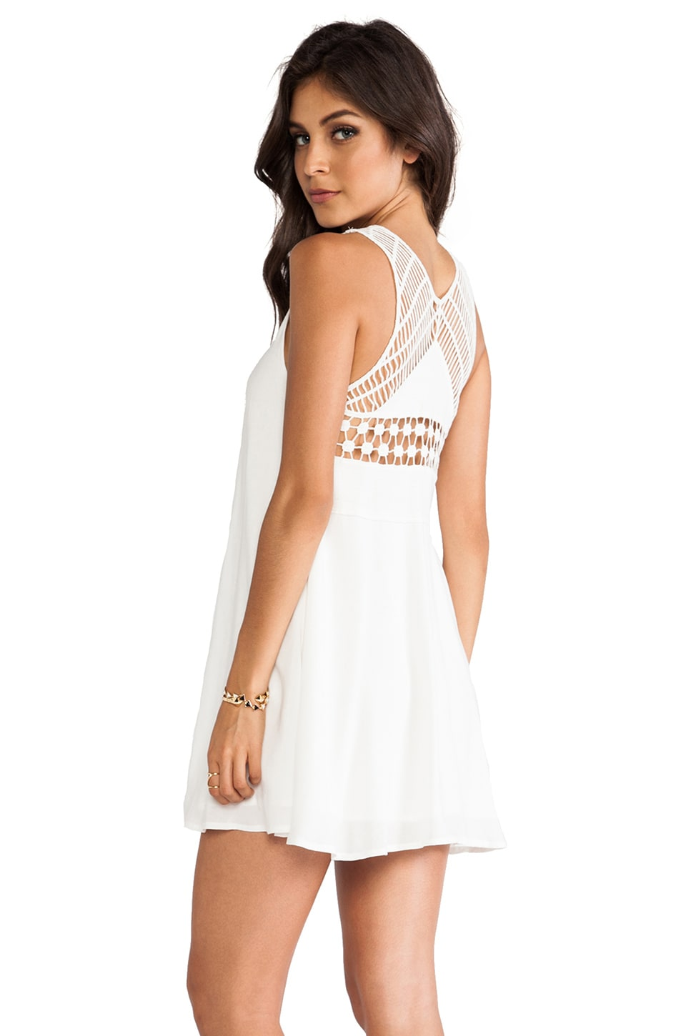 Ladakh Seaside Macrame Dress in White