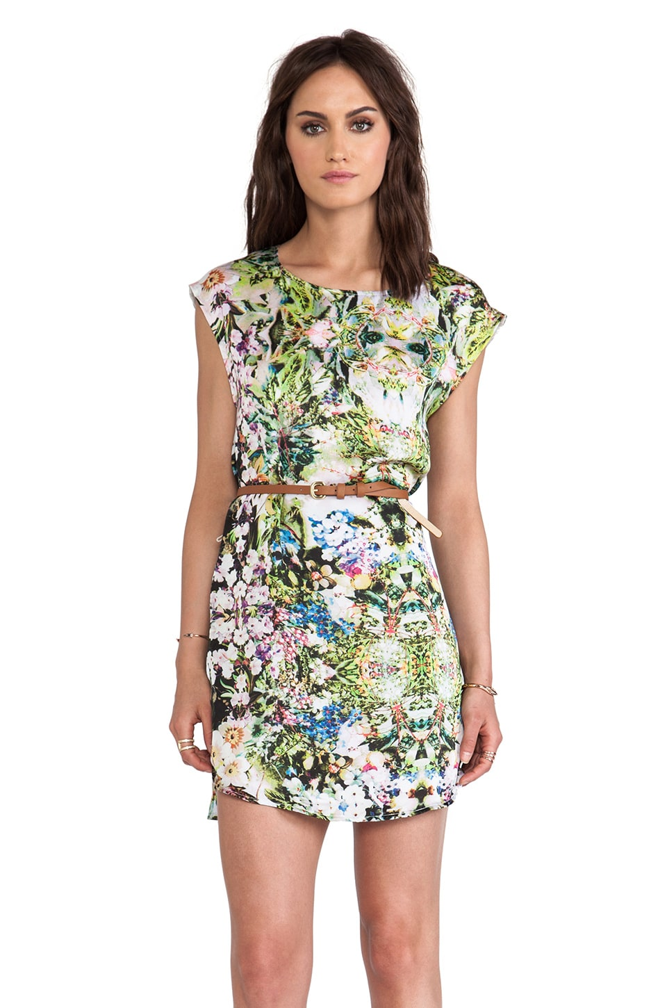 Ladakh Floral Frenzy Dress in Lime Mix
