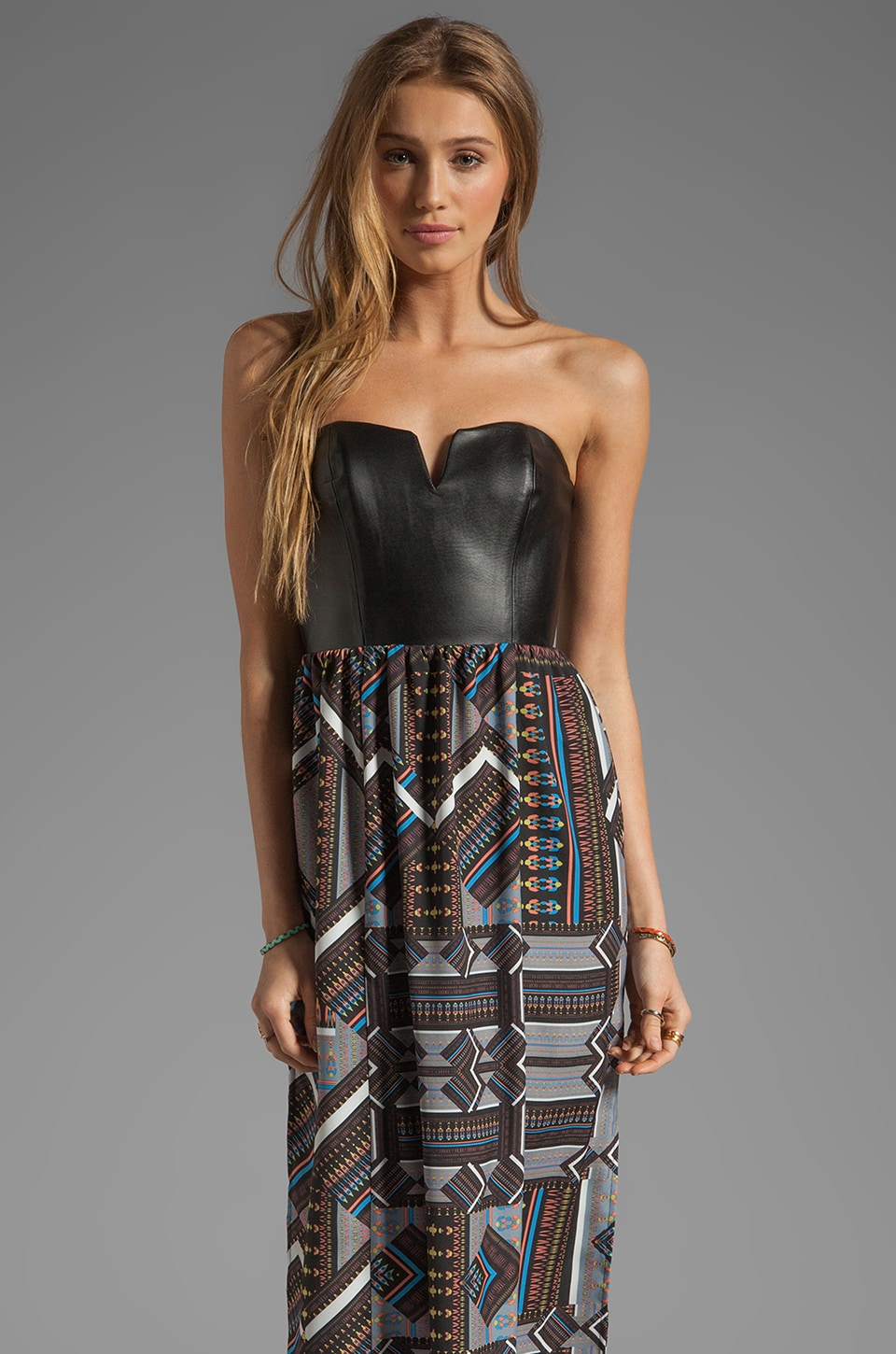 Ladakh Tribal Jigsaw Maxi Dress in Multi
