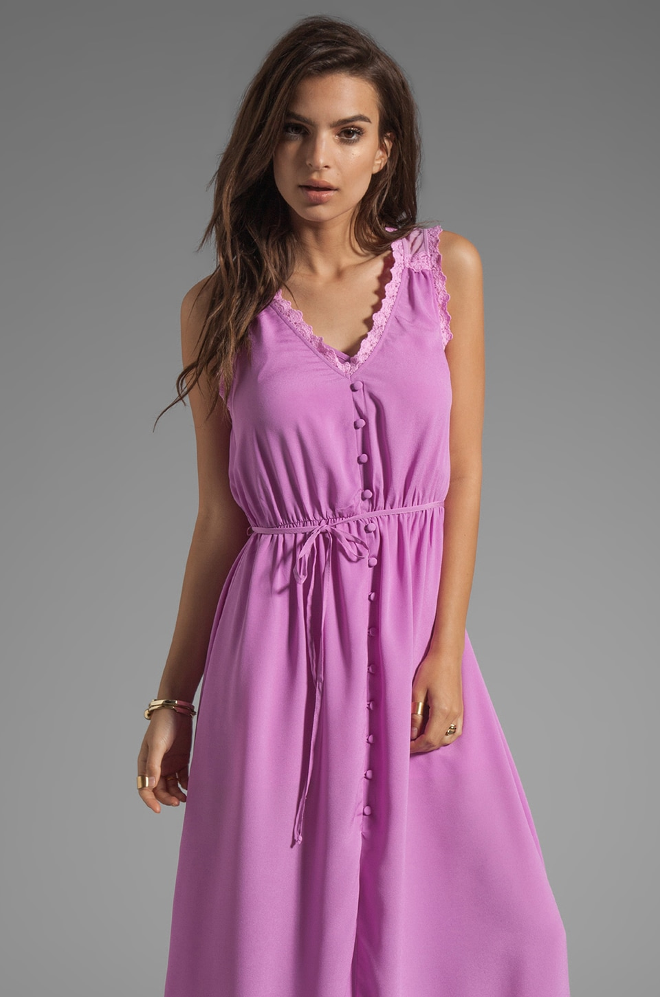Ladakh Hidden Treasure Dress en Rose Craie