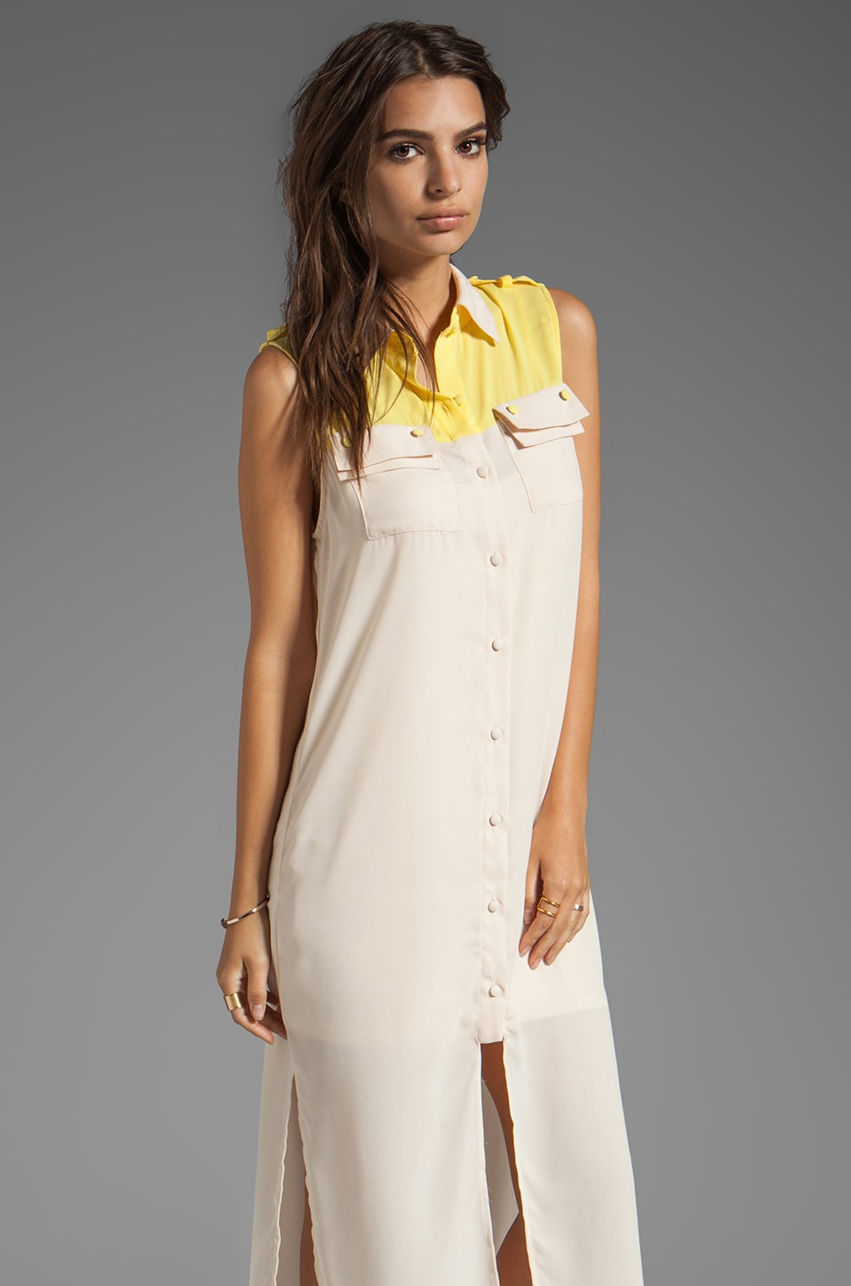 Ladakh The Ritual Shirt Dress in Nude
